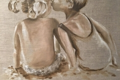 Mireille GIRBAUD-Baiser-enfants