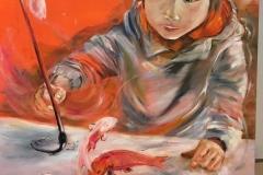 Mireille GIRBAUD- Enfant-aux-poissons