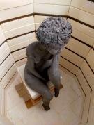 """2021 - sculpture Nathalie """"Avril"""" dans le four"""