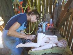 "polissage sculpture ""Avril"""