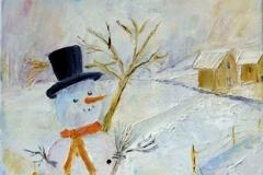 Patricia Mery - bonhomme de neige