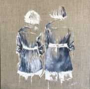 Mireille GIRBAUD - Lin femmes de dos