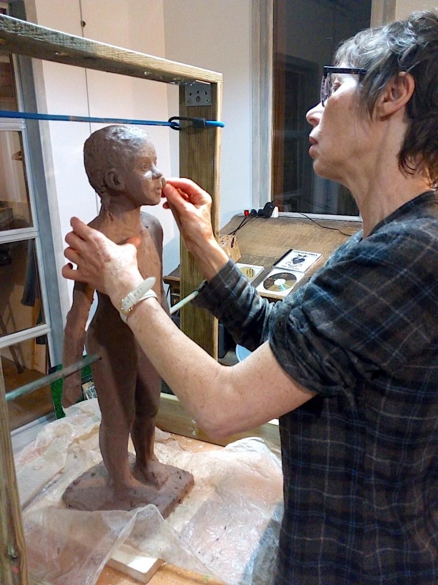 2020/02- Yurga 02 - Sculpture et modelage grès